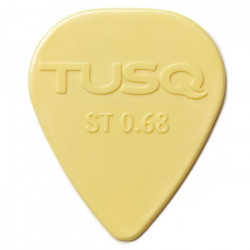 TUSQ Plektren Warm Standard Vintage White