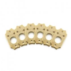 Ratio InvisoMatch PRT-952-213 - Premium Mounting Plates, Gibson Style Screw Hole - Gold