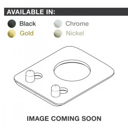 Ratio InvisoMatch PRT-952-201 - Premium Mounting Plates, Fender Style, 2-pin Hole - Gold