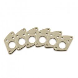 Ratio InvisoMatch PRT-952-217 - Premium Mounting Plates, Fender Style Screw Hole - Nickel
