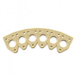 Ratio InvisoMatch PRT-952-216 - Premium Mounting Plates, 90 Degree Hole - Gold