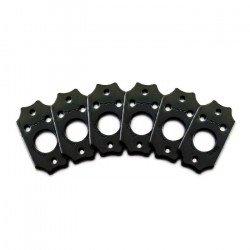 Ratio InvisoMatch PRT-952-213 - Premium Mounting Plates, Gibson Style Screw Hole - Black