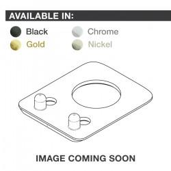 Ratio InvisoMatch PRT-952-201 - Premium Mounting Plates, Fender Style, 2-pin Hole - Black