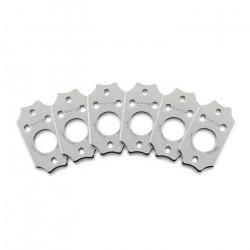 Ratio InvisoMatch PRT-952-213 - Premium Mounting Plates, Gibson Style Screw Hole - Chrome