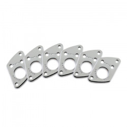 Ratio InvisoMatch PRT-952-217 - Premium Mounting Plates, Fender Style Screw Hole - Chrome