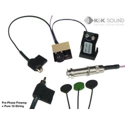 K&K Sound - Pure Western 12 String Pickup with Pre-Phase Preamp